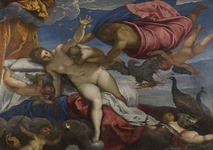 Tintoretto, Jacopo Robusti: The Origin of the Milky Way. Fine Art Print/Poster. Sizes: A4/A3/A2/A1 (001997)